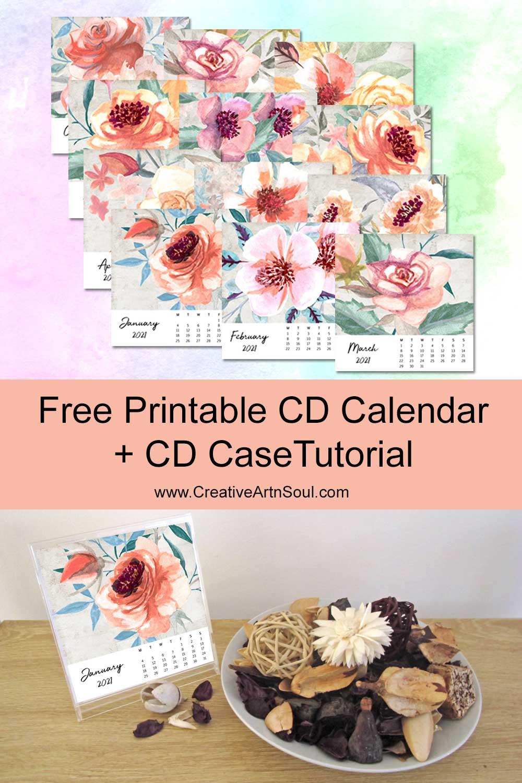 How to Make a CD Calendar + Free 2021 Calendar Printables