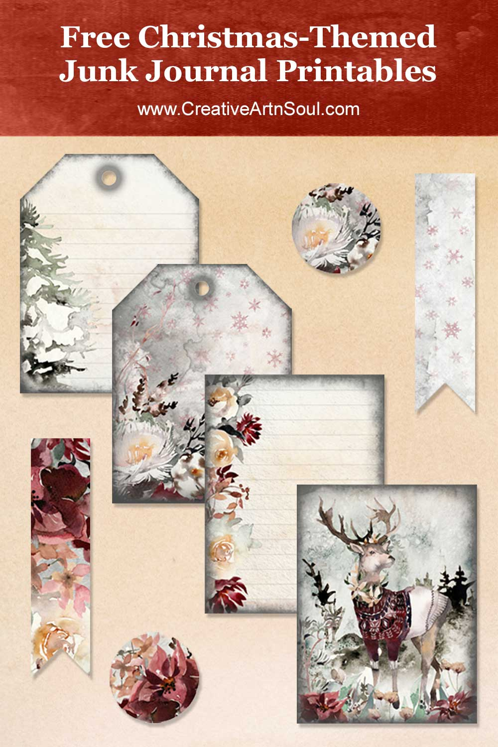 Free Christmas-Themed Printables for Your Junk Journal