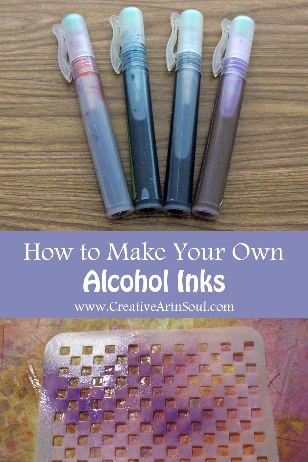 How to Make Your Own Alcohol Inks