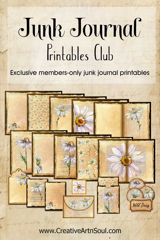 The CreativeArtnSOul Junk Journal Printables Club