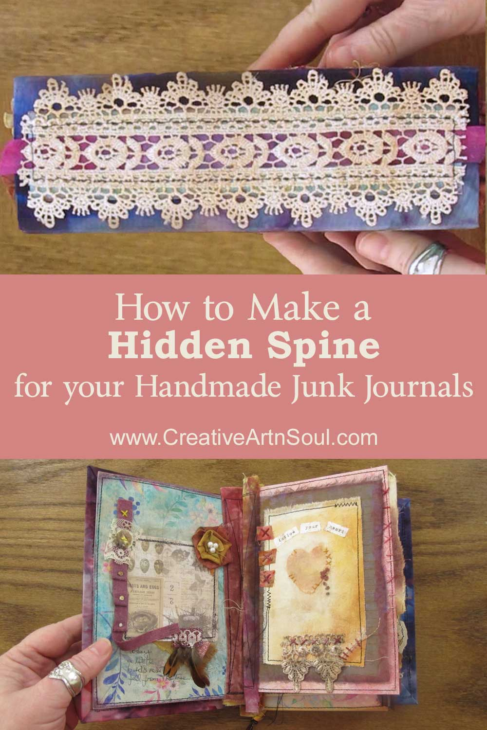 How to Make a Hidden Spine for your Handmade Junk Journals