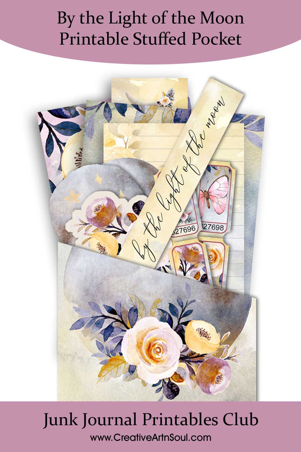 Printable Stuffed Pockets for Your Junk Journals