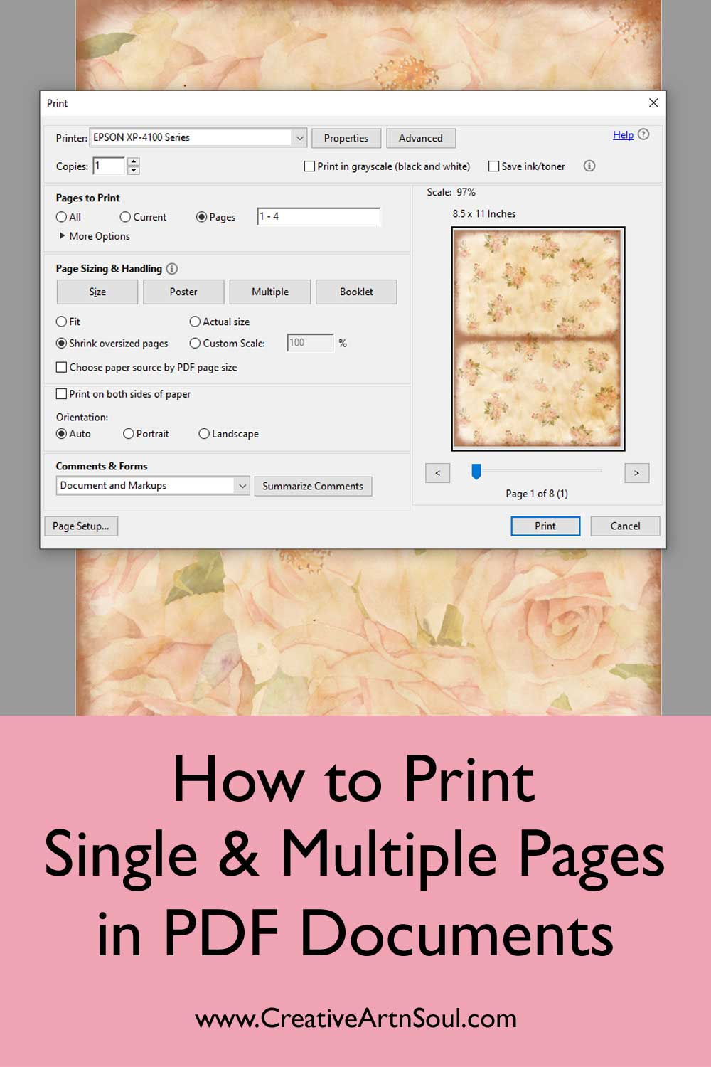 How to Print Single and Multiple Pages in PDF Documents