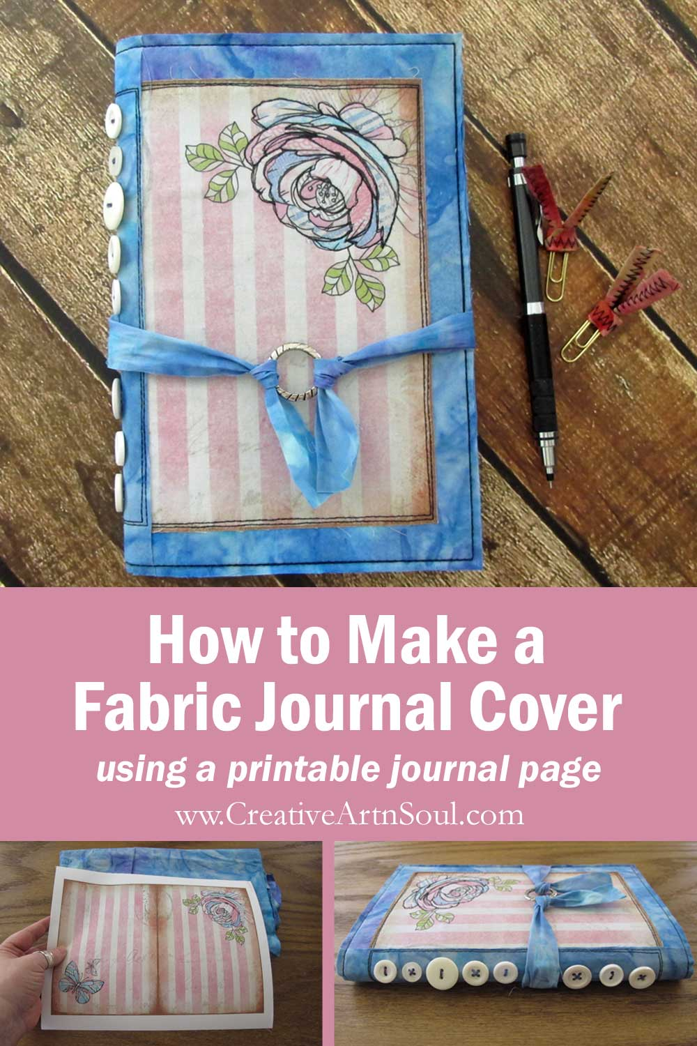 How to Make a Reusable Fabric Journal Cover