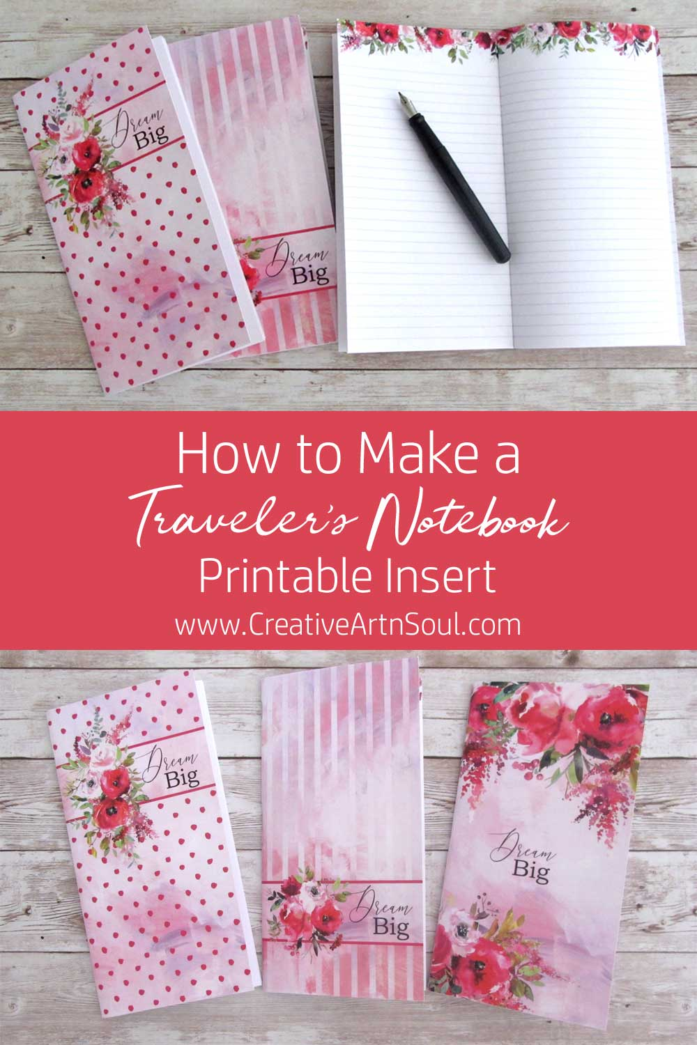 How to Make a Traveler's Notebook Insert