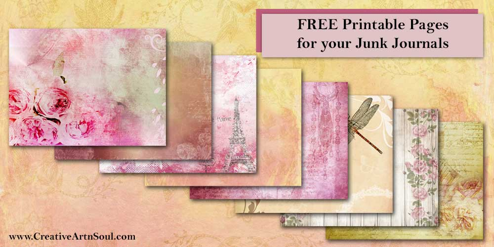 Eight Free Printable Pages for Your Junk Journals