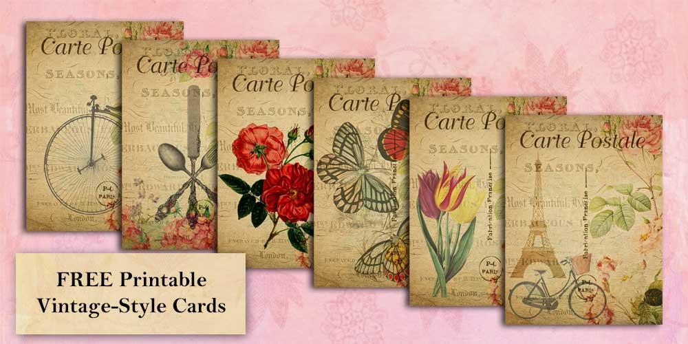 Printable Vintage-Style Cards
