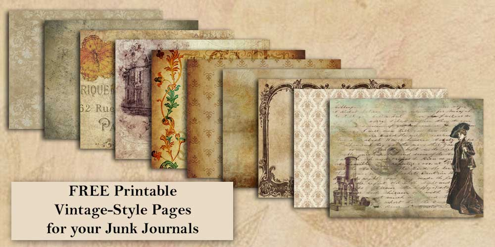 Printable Vintage-Style Journal Pages