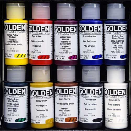 Golden Fluid Acrylic Paint Set