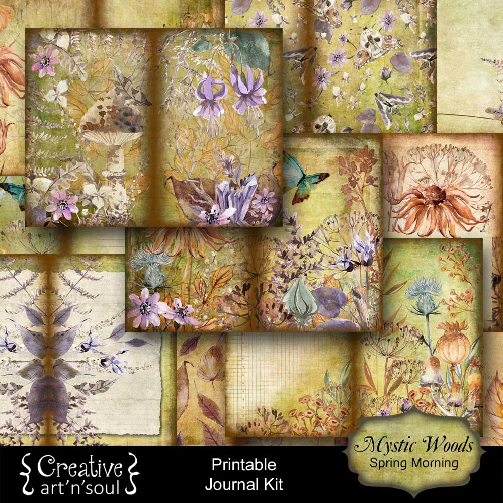 Mystic Woods Printable Journal and Free Printables for Your Junk Journals