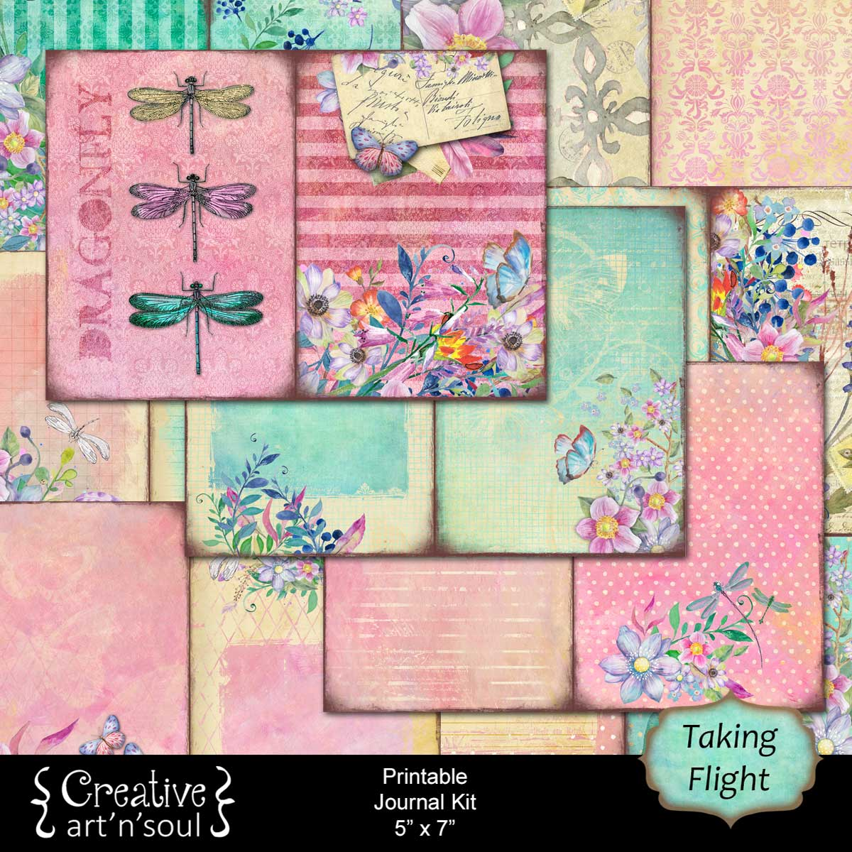 Taking Flight Printable Junk Journal and Free Printables