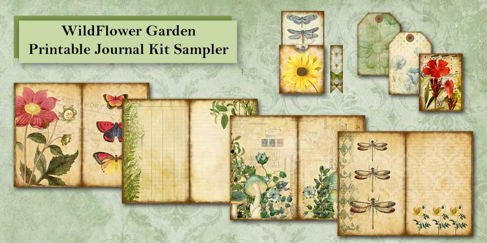 Wildflower Garden Printable Journal Kit Sampler